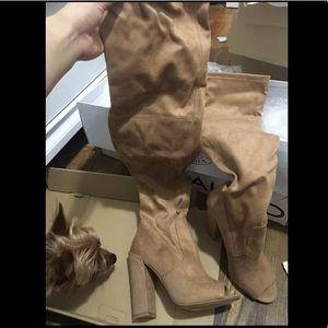 Steve Madden thigh high boots like new!